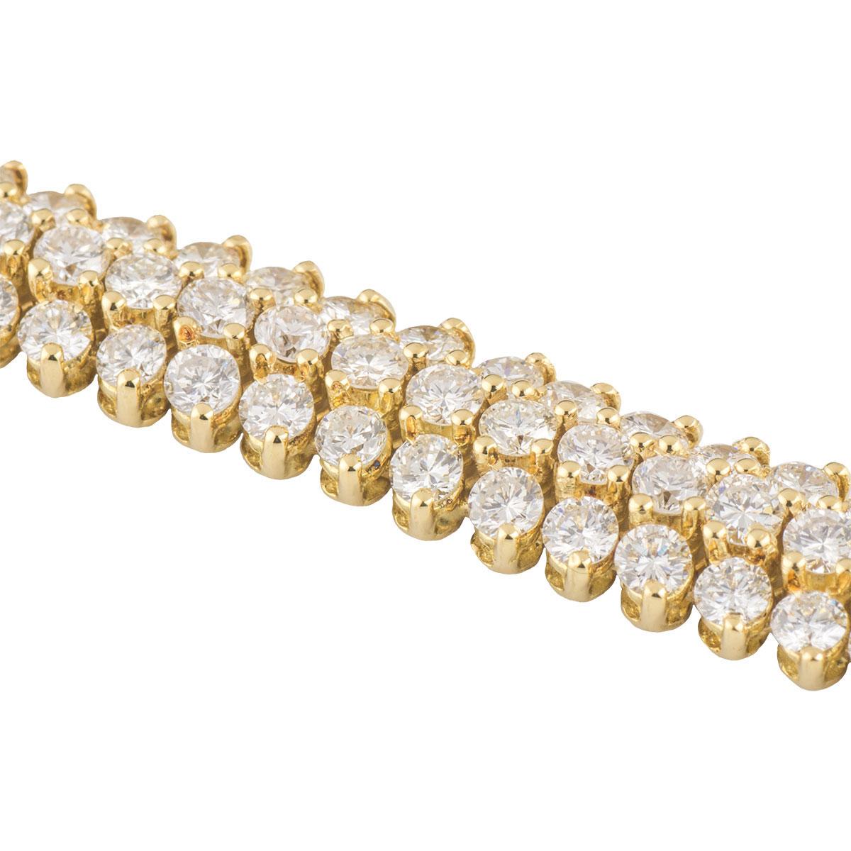 Yellow Gold Diamond Bracelet 10.20ct G+/VS+
